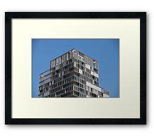 modern house with loggias Framed Print