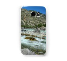 sandy beach on the river Katun, Altai Mountains, Siberia, Russia Samsung Galaxy Case/Skin