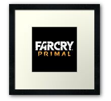 Far Cry Primal Logo - White Text Framed Print