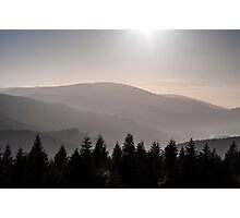 grey mountains Photographic Print