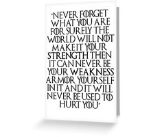 Game of Thrones - Tyrion Quote Greeting Card