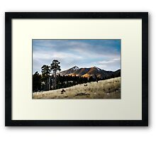 Passing Light on the Mountains Framed Print