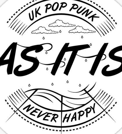 As It Is UK pop punk Sticker