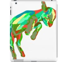 Leaping Red n Green Goat iPad Case/Skin