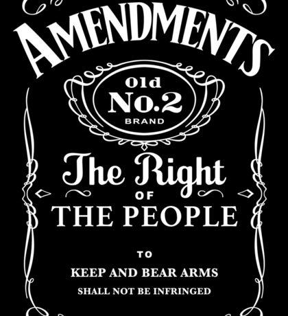 Second Amendment Whiskey Bottle Sticker