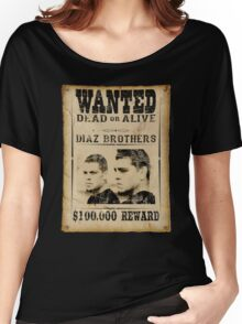 Diaz Brothers Wanted Poster Women's Relaxed Fit T-Shirt