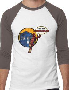 Time for Chimichangas!!! Men's Baseball ¾ T-Shirt