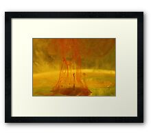 Red rain Framed Print