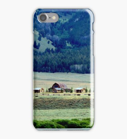 Down In The Valley..Ketchum, Idaho...drive by iPhone Case/Skin