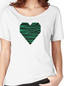 0092 Cadmium Green Tiger Women's Relaxed Fit T-Shirt