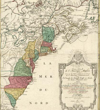 American Revolutionary War Era Maps 1750-1786 469 Carte nouvelle de l'Amérique angloise contenant tout ce que les Anglois possédent sur le continent de Sticker