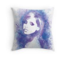 SMG Watercolor Portrait Throw Pillow