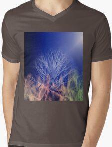 The Burning Tree Mens V-Neck T-Shirt