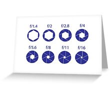 F-Stops - Blue Greeting Card
