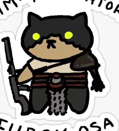 Im-purr-ator Furry-osa Sticker