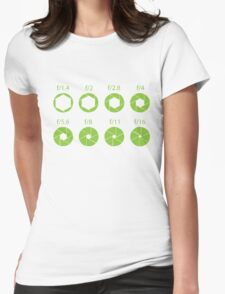 F-Stops-Green Womens Fitted T-Shirt