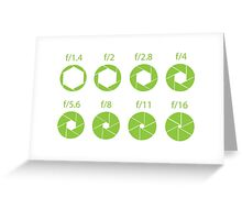 F-Stops-Green Greeting Card