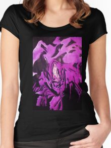 Grim Reaper Graphic Women's Fitted Scoop T-Shirt