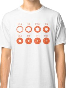 F-Stops-Orange Classic T-Shirt