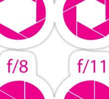 F-Stops-Pink Sticker