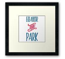 Eleanor and Park Framed Print