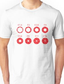 F-Stops-Red Unisex T-Shirt