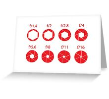 F-Stops-Red Greeting Card