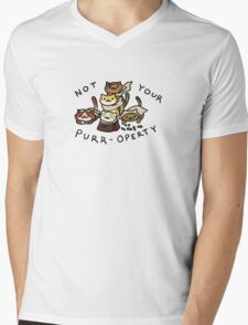 Not Your Purr-operty! Mens V-Neck T-Shirt