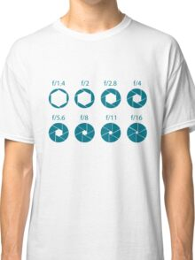 F-Stops-Teal Classic T-Shirt
