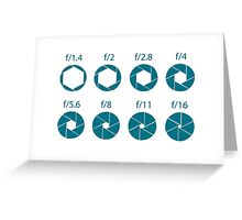 F-Stops-Teal Greeting Card