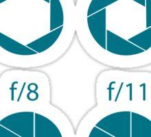 F-Stops-Teal Sticker