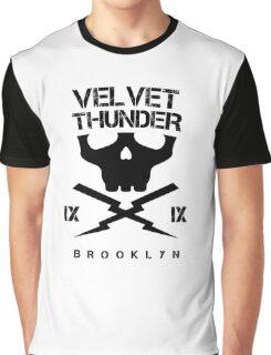 Velvet Thunder Club Black Text. Graphic T-Shirt