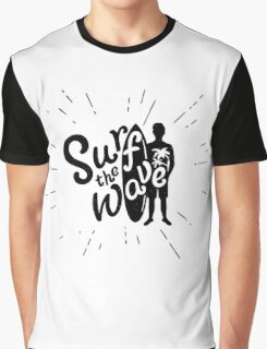 Surf the wave grunge style Graphic T-Shirt