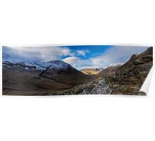Wasdale Valley Panorama Poster