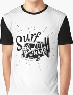Surf the wave retro style Graphic T-Shirt