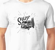 Surf the wave retro style Unisex T-Shirt