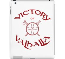 Victory or Valhalla, red iPad Case/Skin