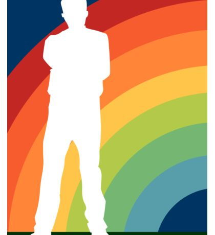 big gay rainbow Sticker