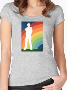big gay rainbow Women's Fitted Scoop T-Shirt