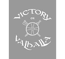 Victory or Valhalla, white Photographic Print