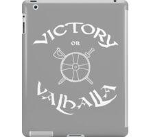 Victory or Valhalla, white iPad Case/Skin