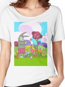 Easter Monkey's Coming to Town Women's Relaxed Fit T-Shirt