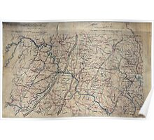 219 Part of map of portions of the milit'y dept's of Washington Pennsylvania Annapolis and north eastern Virginia Poster