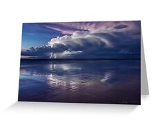"""Cable Beach Lightning"" Greeting Card"