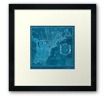 American Revolutionary War Era Maps 1750-1786 352 Bowles's new pocket map of the United States of America the British possessions of Canada Nova Scotia and Inverted Framed Print