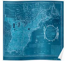 American Revolutionary War Era Maps 1750-1786 352 Bowles's new pocket map of the United States of America the British possessions of Canada Nova Scotia and Inverted Poster
