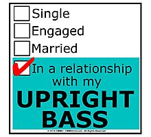 In A Relationship With My Upright Bass Photographic Print