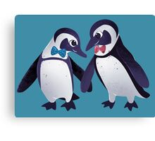 Dapper Penguins Canvas Print