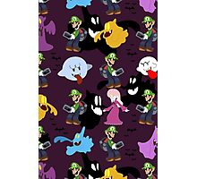 Luigi's Mansion Pattern Photographic Print