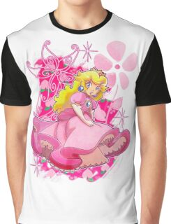 Flowery Princess Peach Graphic T-Shirt
